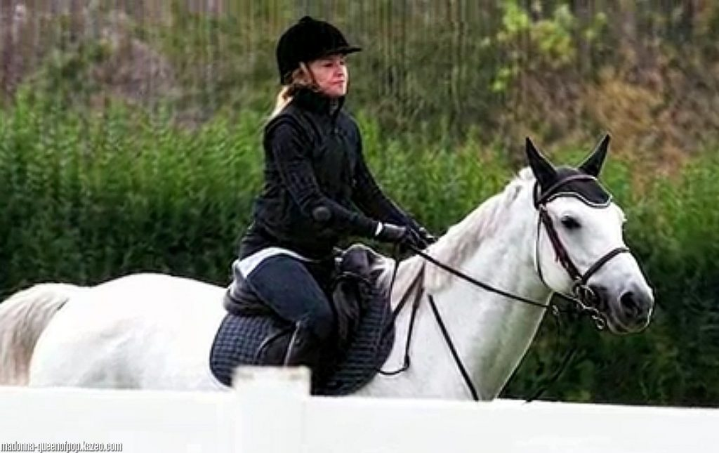 madonna horseriding